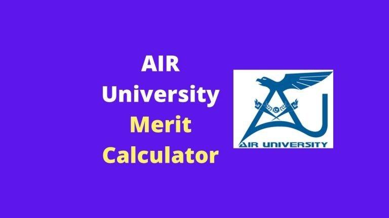 AIR University Merit Calculator 2020