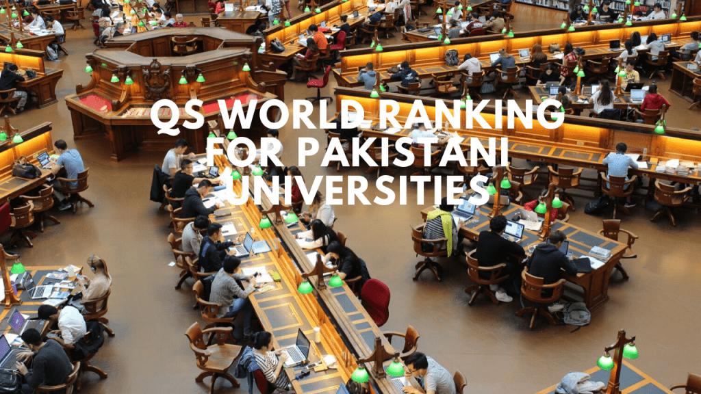 QS world ranking for Best engineering universities in Pakistan