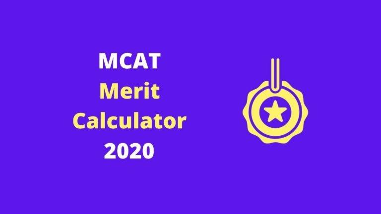 MCAT Merit Calculator 2020