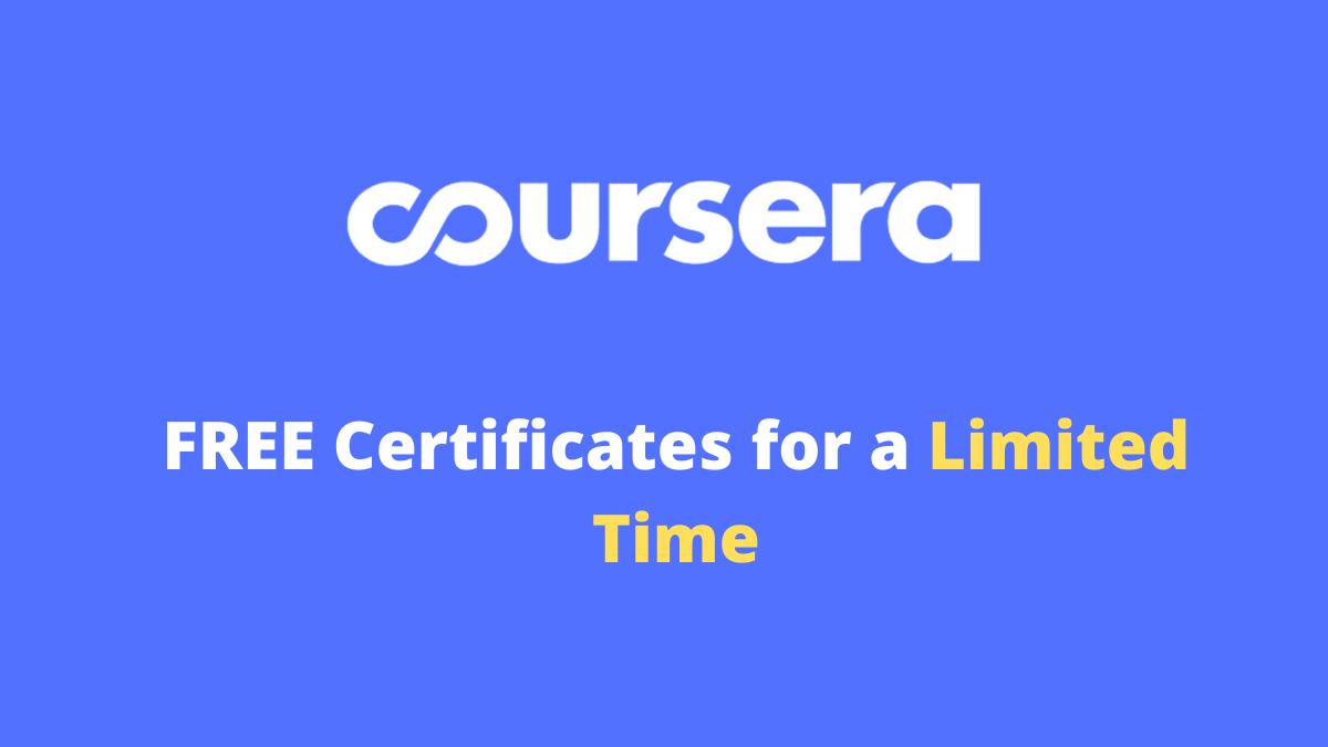 Coursera free courses