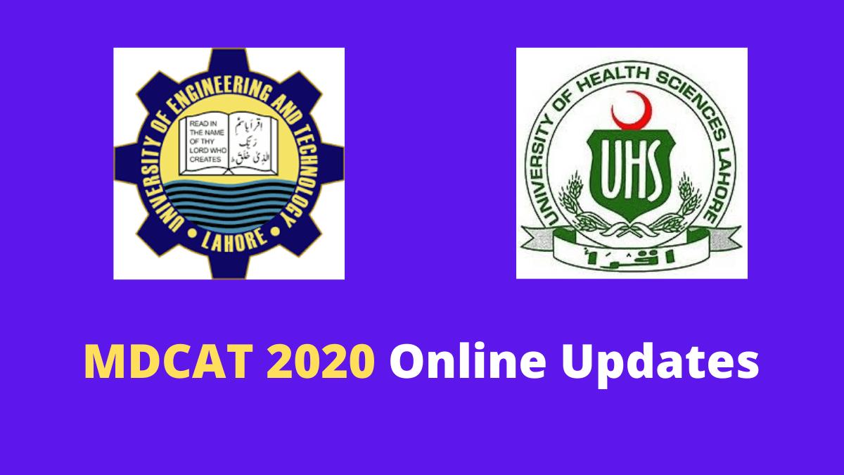 MDCAT 2020 online for medical universities in Pakistan