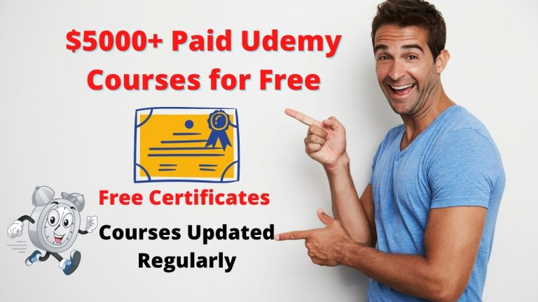 Get $5000+ Udemy Paid Courses for Free with Certificate Updated Today