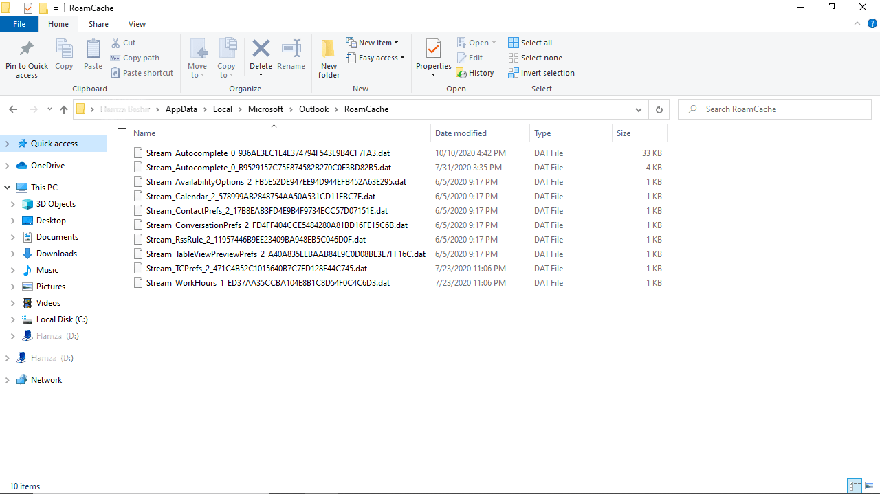 Delete-and-clear-Microsoft-Outlook-Cache
