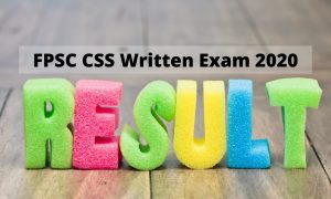 FPSC CSS Written Test Result 2020