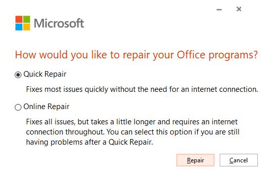 Repairing Microsoft Office to Fix [pii_email_84e9c709276f599ab1e7]