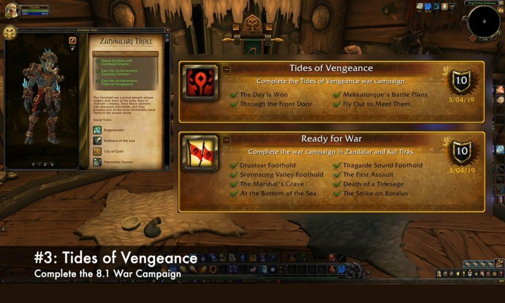 Allied Races third step to unlock zandalari trolls