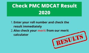 Check PMC MDCAT 2020 Result