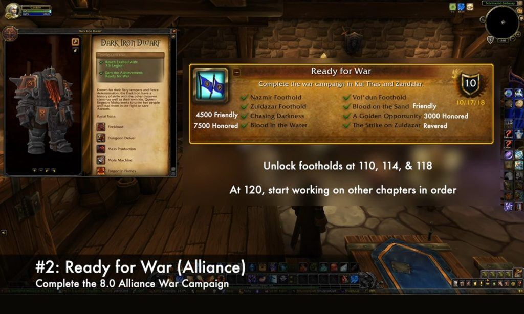 Second step on how to unlock Wow Dark Iron Dwarves