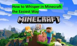 How to Whisper in Minecraft the easiest way
