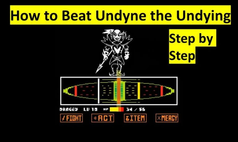 How to Beat Undyne the Undying in Undertale Easy Steps