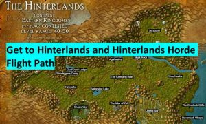 How to get to hinterlands and horde flight path