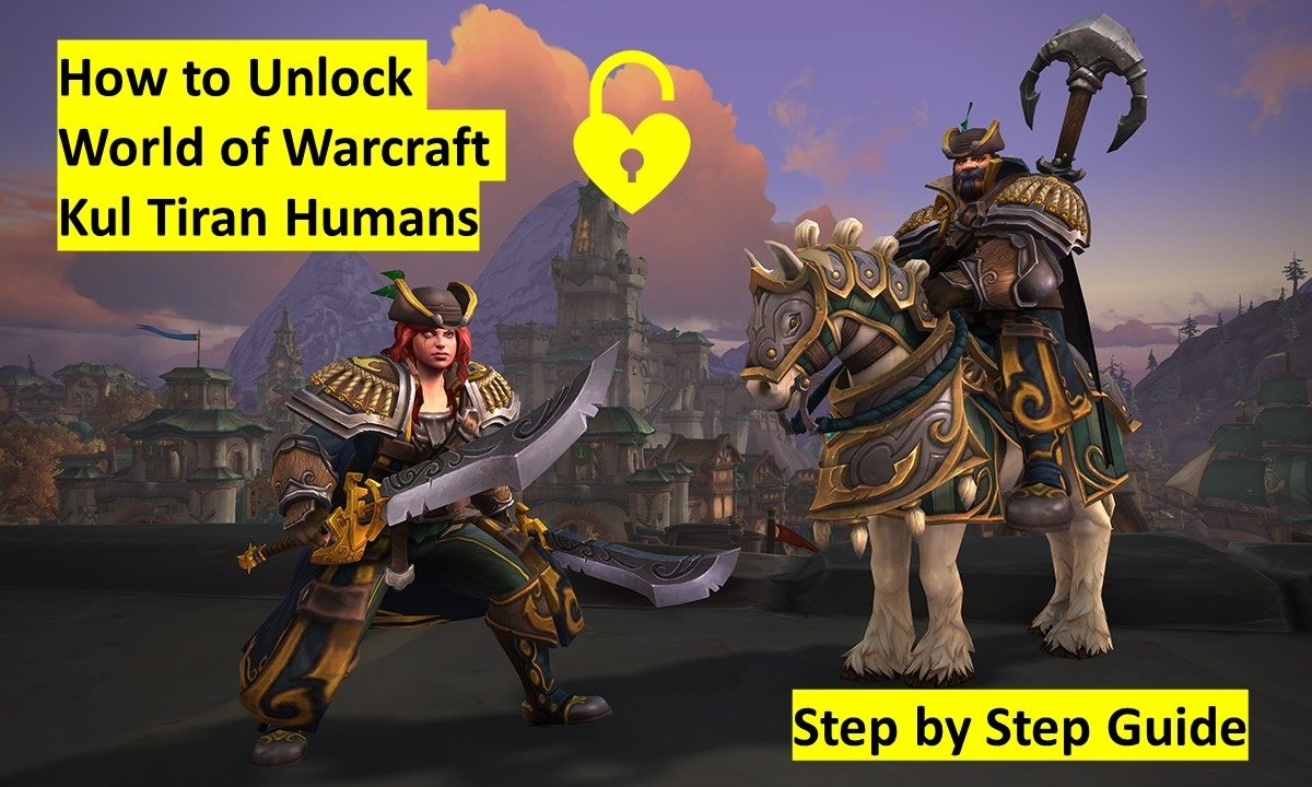 How to unlock the wow Kul Tiran Humans