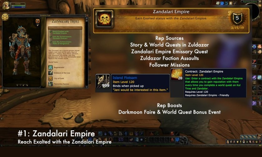 Tides of Vengeance first step for unlocking wow zandalari trolls