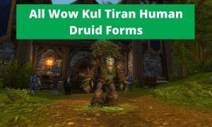 Wow Kul Tiran human druid forms