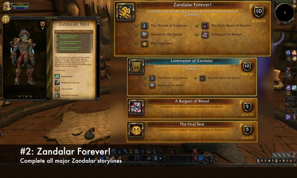 Zandalar Forever to unlock zandalari trolls