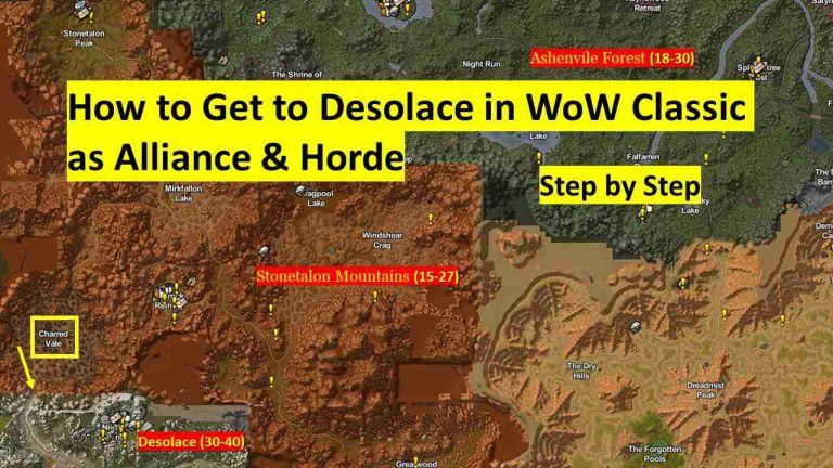 How to Get to Desolace in WoW Classic as Alliance & Horde