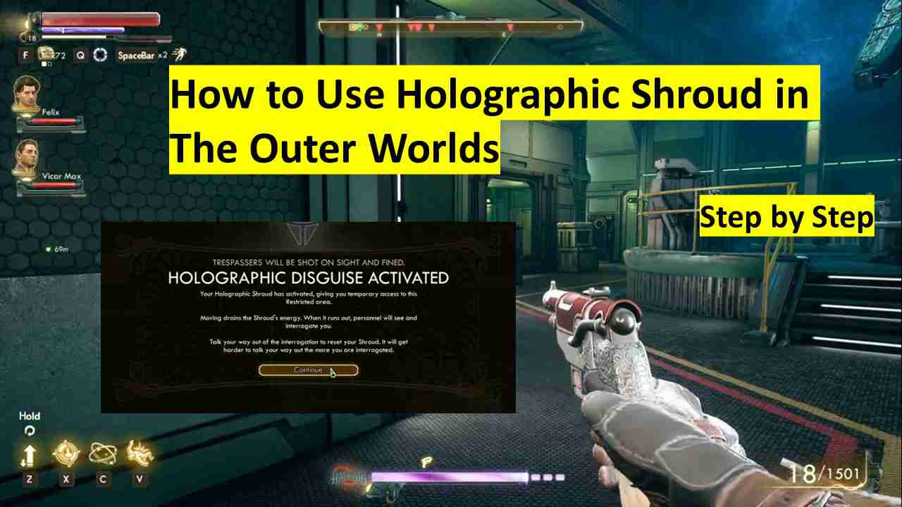 How to Use Holographic Shroud in The Outer Worlds