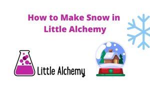 how to make snow in littlealchemy 2
