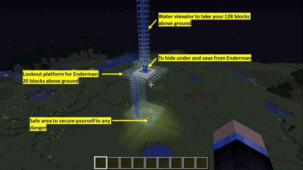 where to find enderman in Overworld Minecraft