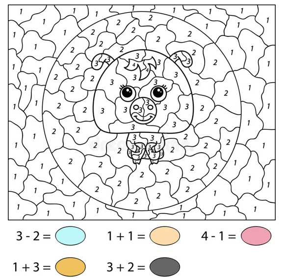 Pig Color by Number